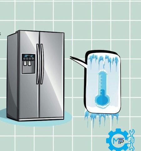 علت سردی بیش از حد فریزر