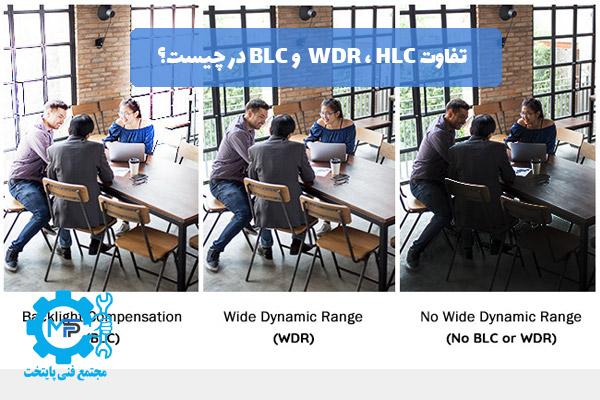 تفاوت WDR ، HLC و BLC در چیست؟